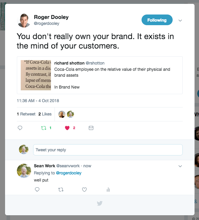 you dont own your brand