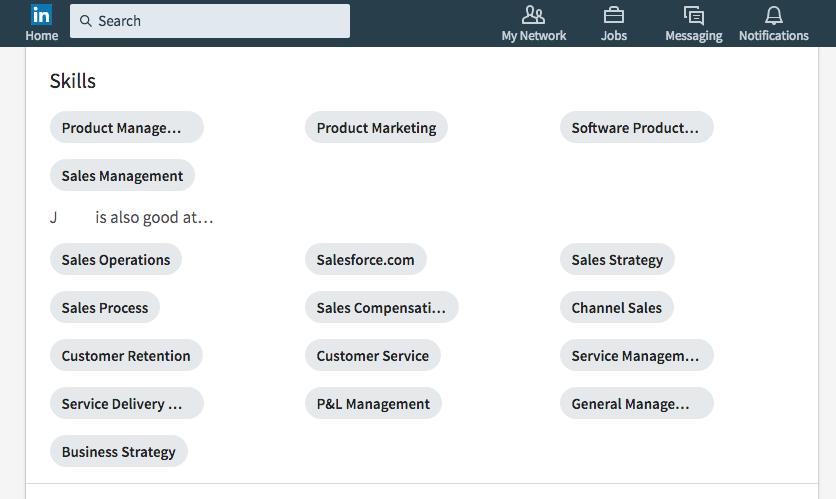 LinkedIn-skills-recommendations