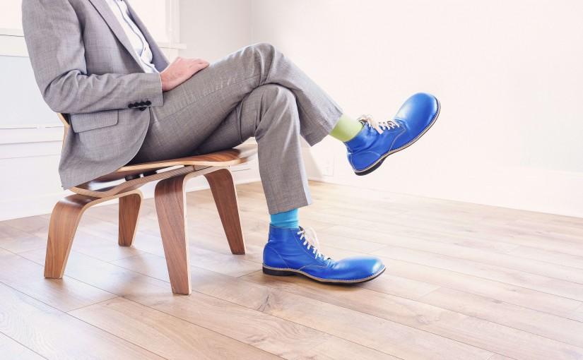 worker-blue-clown-shoes