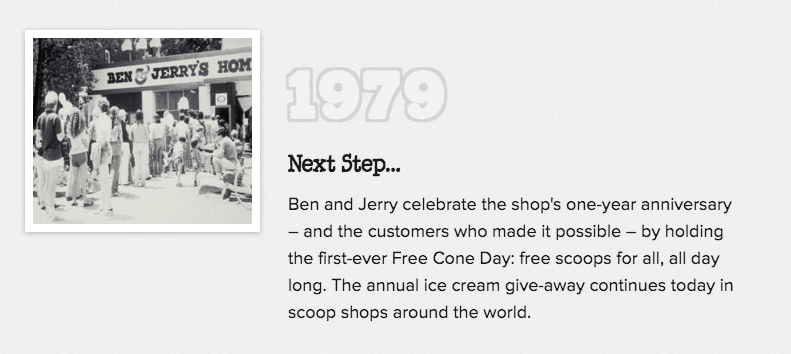 ben and jerrys ice cream day 1979