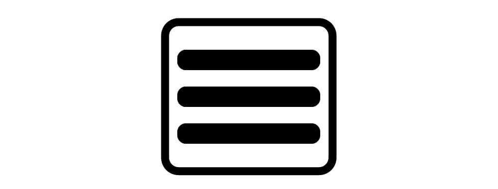 this is a website hamburger menu