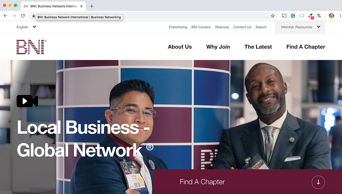 BNI homepage