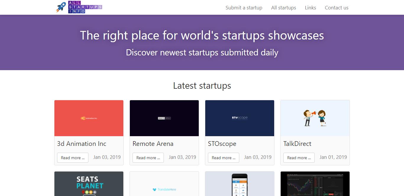 All Startups Info