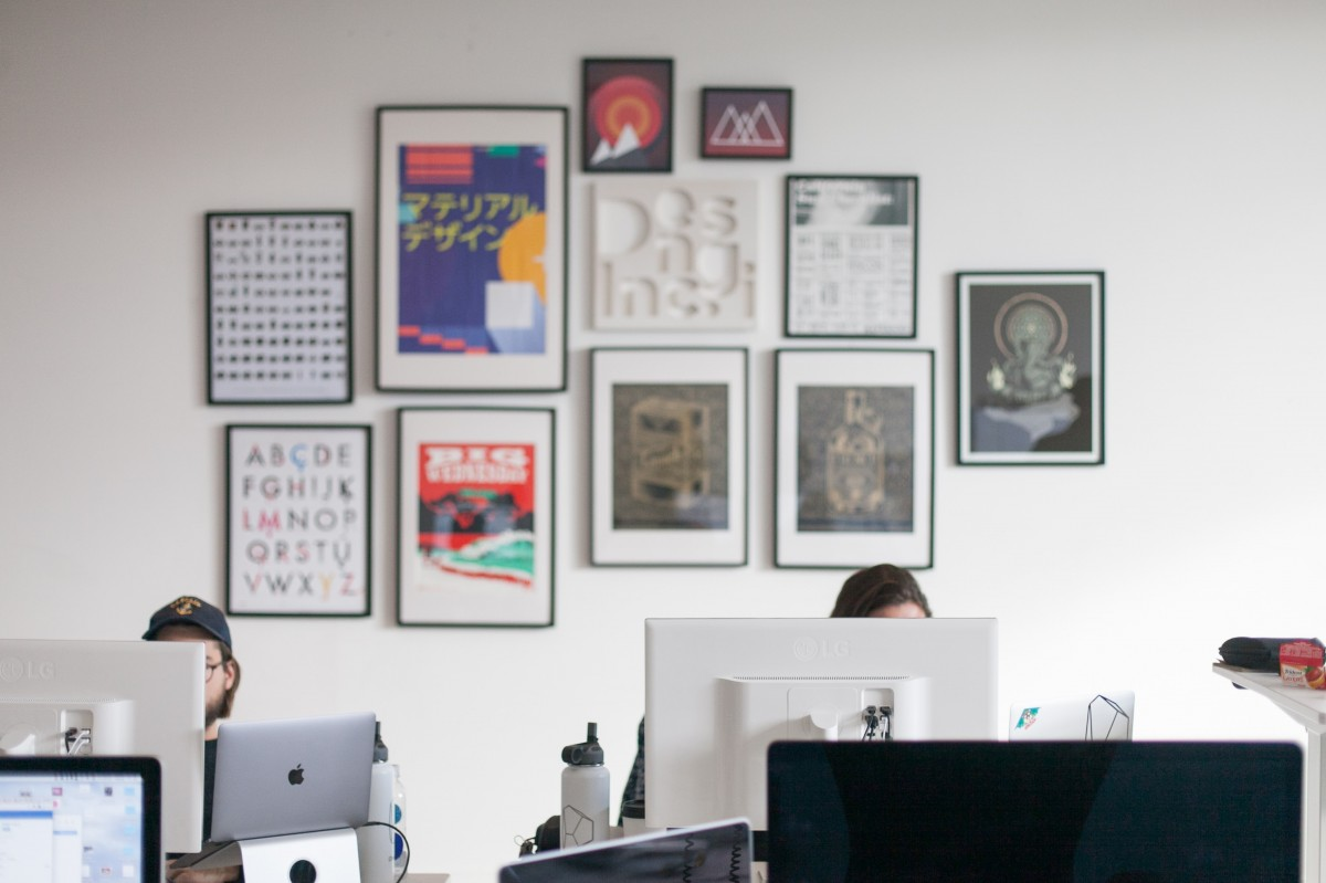 startup office wall posters