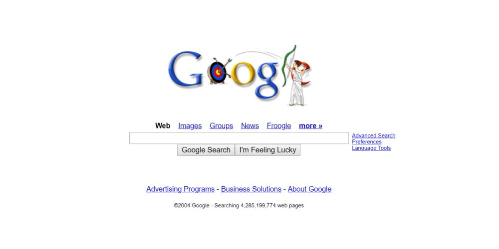 Google Homepage 2004