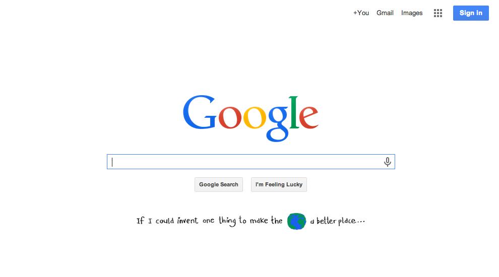 Google Homepage 2014