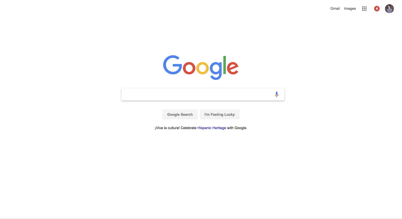 Google Homepage 2017