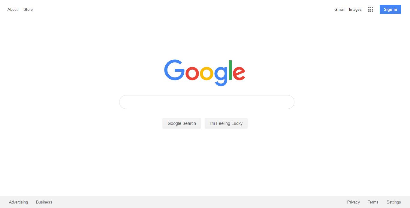 Google Homepage 2019