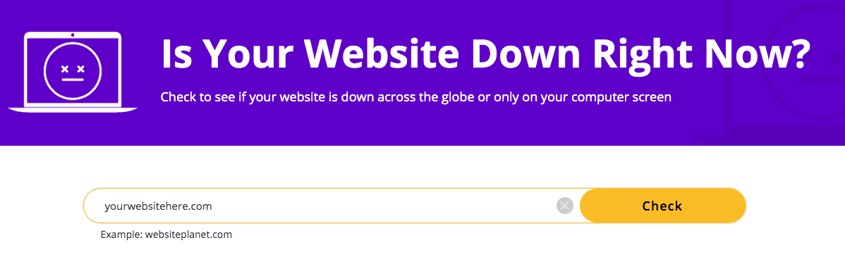 is your website down right now