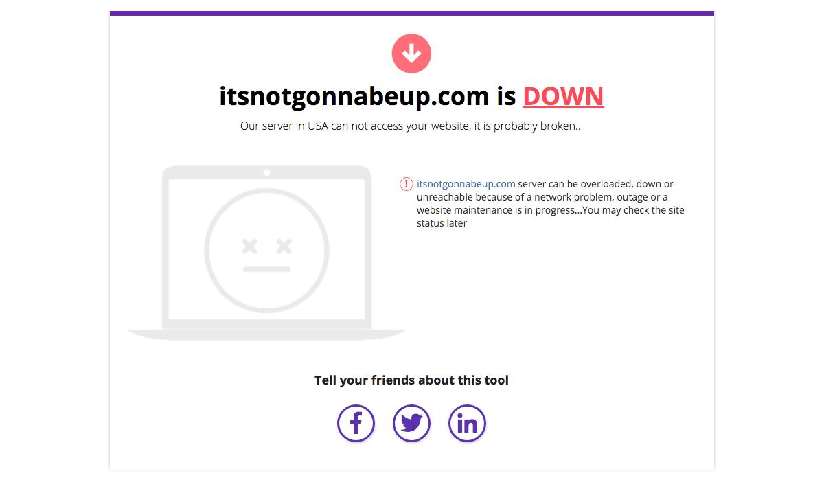 your WordPress website is down