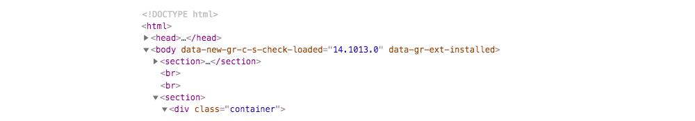 website HTML head code example
