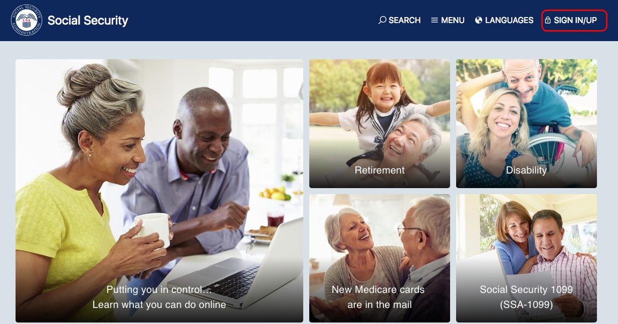 social security homepage